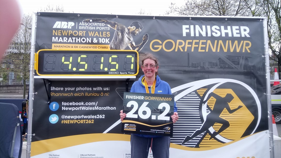 victoria ratcliffe after completing the 1st newport marathon.jpg