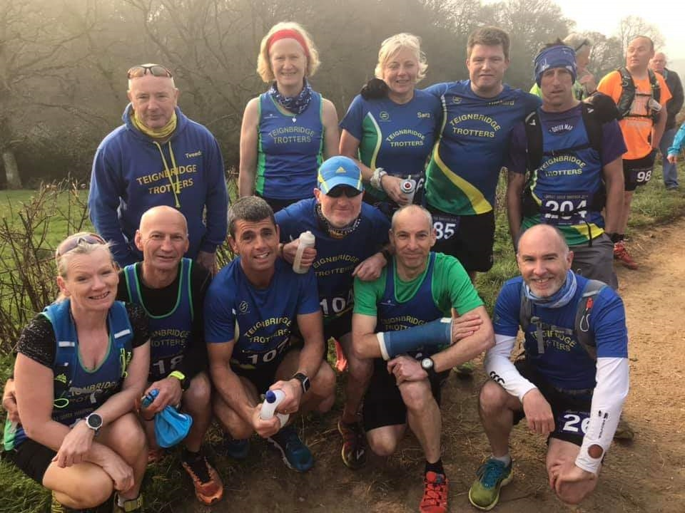 part of the teignbridge trotter team line up before dorset ooser marathon.jpg