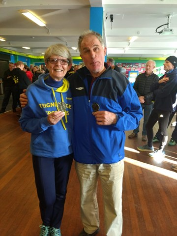 lucy payne and graeme baker show off their age category wards.jpg