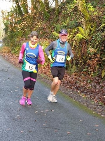sharon and paul sharples keep each other company down the plym trail.jpg