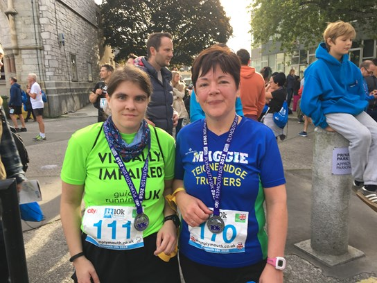 sofie and margaret at the plymouth 10k.jpg