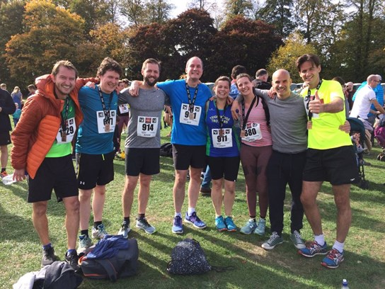 linda and her team mates after running basingstoke half marathon.jpg