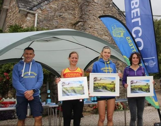the podium winners at the newton abbot ladies 10k.jpg