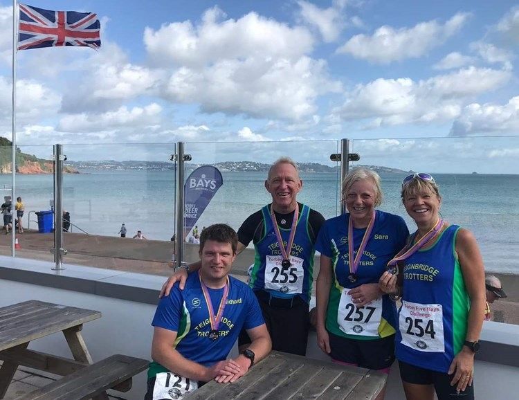richard, paul, sara and sharon at the five bays challenge.jpeg